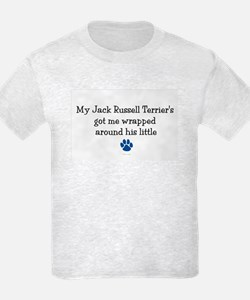 Wrapped Around His Paw (Jack Russell Terrier) T-Shirt