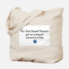 Wrapped Around His Paw (Jack Russell Terrier) Tote