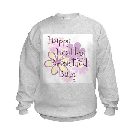 Happy Healthy Breastfed Baby Kids Sweatshirt