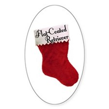Flat-Coat Stocking Oval Decal