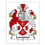 Lampson Family Crest Small Poster