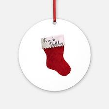 Frenchie Stocking Ornament (Round)