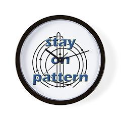 Stay on pattern reiner Wall Clock