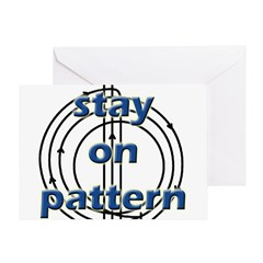 Stay on pattern Greeting Card