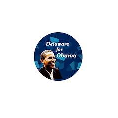 Delaware for Obama Mini Button