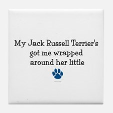 Wrapped Around Her Paw (Jack Russell Terrier) Tile