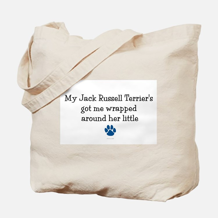 Wrapped Around Her Paw (Jack Russell Terrier) Tote