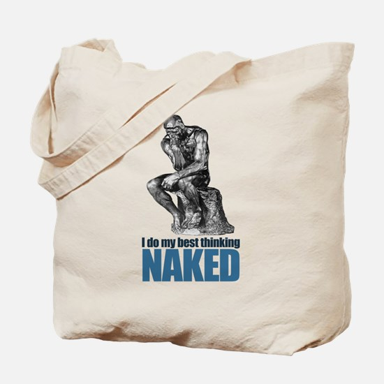 Best Thinking Naked Tote Bag