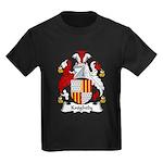 Knightly Family Crest Kids Dark T-Shirt