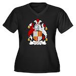 Knightly Family Crest Women's Plus Size V-Neck Dar