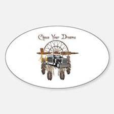 Chase Your Dreams Oval Decal