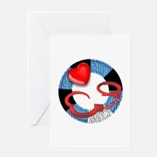 LEATHER PRIDE RING/CUFFS2/TOP Greeting Card