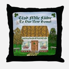 Welcome to Our New Home! (Shamrocks) Throw Pillow