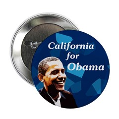 Ten California for Obama buttons