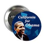 California for Obama 2008 button