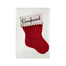 Greyhound Stocking Rectangle Magnet