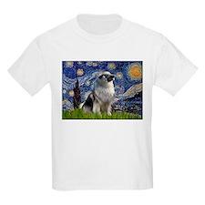 Starry Night & Keeshond T-Shirt