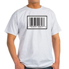 Ash Grey T-Shirt with BARCODE image!