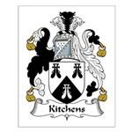 Kitchens Family Crest Small Poster
