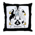Kitchens Family Crest Throw Pillow