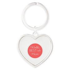 World's Best ish Mom Heart Keychain