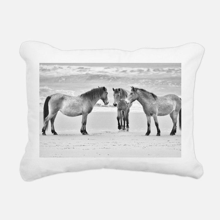 Meeting Rectangular Canvas Pillow