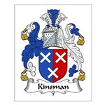 Kinsman Family Crest Small Poster