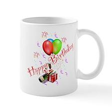 Happy Birthday Balloons and Bubbly Mug