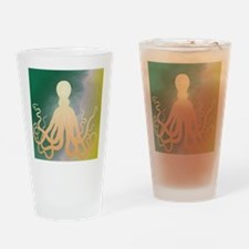 Vintage Octopus Etching Drinking Glass