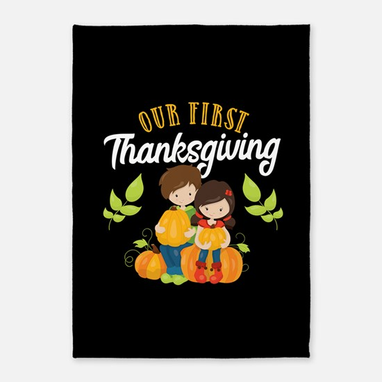 Our 1st Thanksgiving 5'x7'Area Rug