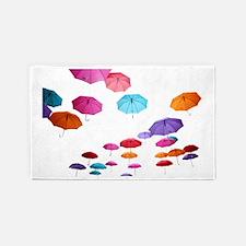 Umbrella sunshade parasol pattern design Area Rug