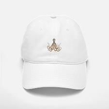Vintage Octopus Etching Baseball Baseball Cap