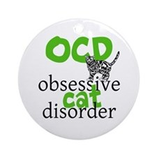 Cat Disorder Ornament (Round)