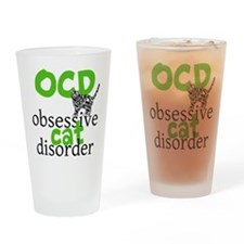 Cat Disorder Drinking Glass
