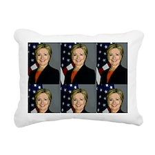 hillary clinton Rectangular Canvas Pillow