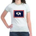 Wyoming State Flag Jr. Ringer T-Shirt