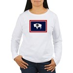 Wyoming State Flag Women's Long Sleeve T-Shirt