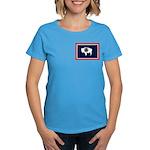 Wyoming State Flag Women's Dark T-Shirt