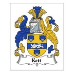 Kett Family Crest Small Poster