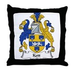 Kett Family Crest Throw Pillow