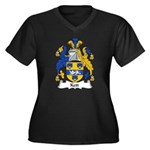 Kett Family Crest Women's Plus Size V-Neck Dark T-