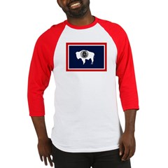 Wyoming State Flag Baseball Jersey