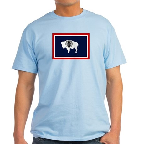Wyoming State Flag Light T-Shirt