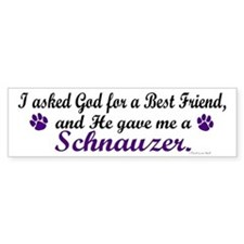 God Gave Me A Schnauzer Bumper Bumper Sticker