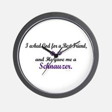 God Gave Me A Schnauzer Wall Clock