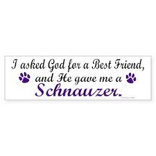 God Gave Me A Schnauzer Bumper Bumper Sticker