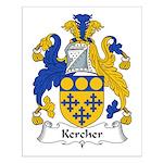 Kercher Family Crest Small Poster