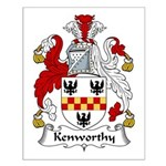 Kenworthy Family Crest Small Poster