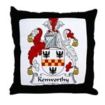 Kenworthy Family Crest Throw Pillow