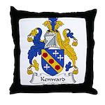 Kenward Family Crest Throw Pillow